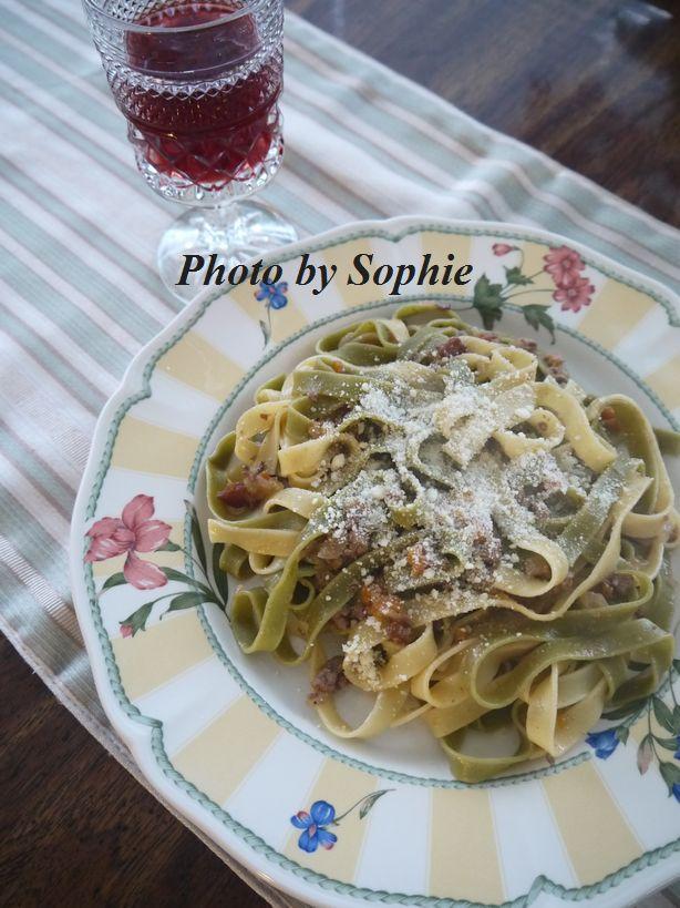 タリアテッレ2種のボロネーズ
