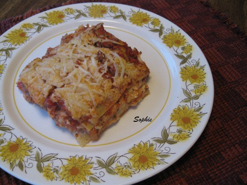 ラザーニャ・3種の挽肉