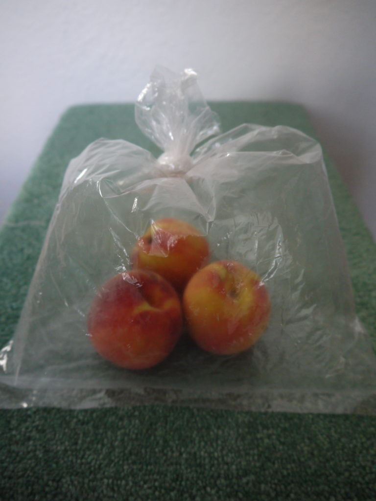 peaches in bag