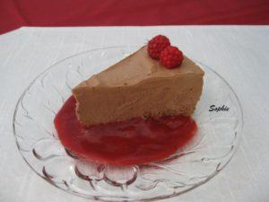 アイリッシュクリームのチョコレートムースケーキ
