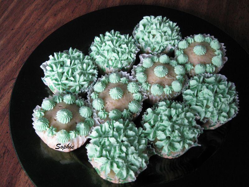 テキーラとライムのカップケーキ