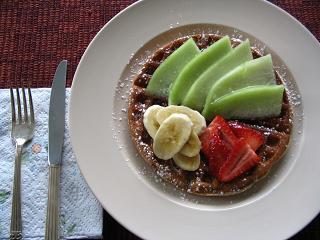 朝食ワッフル