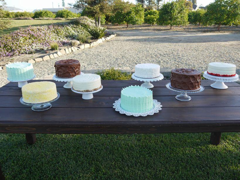 マルチ・フレーバーのウェディングケーキ