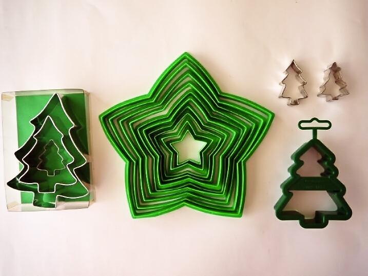 クリスマスツリー立体形のクッキー型