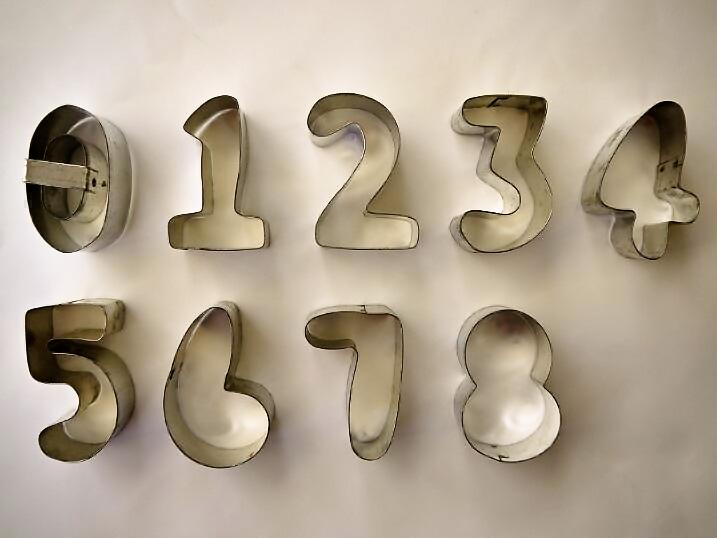 数字のクッキー型