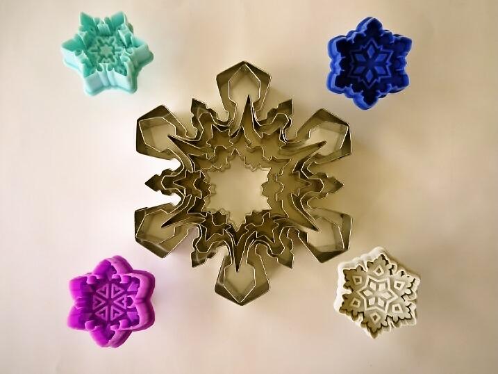 雪の結晶のクッキー型