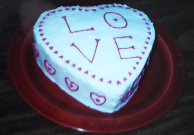 ハート形LOVEケーキ