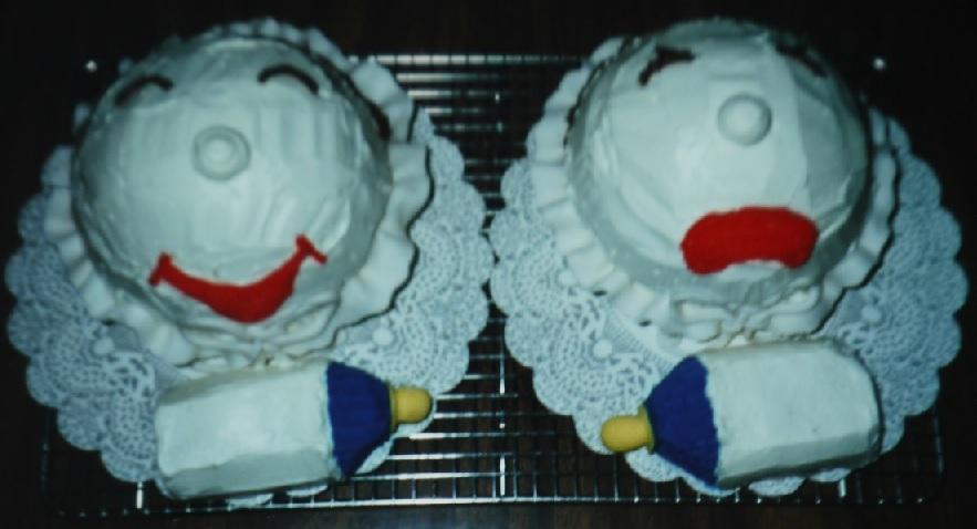 ベビーシャワーケーキ
