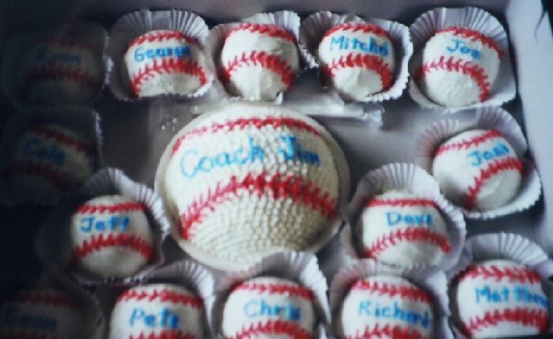 ベースボールミニケーキ