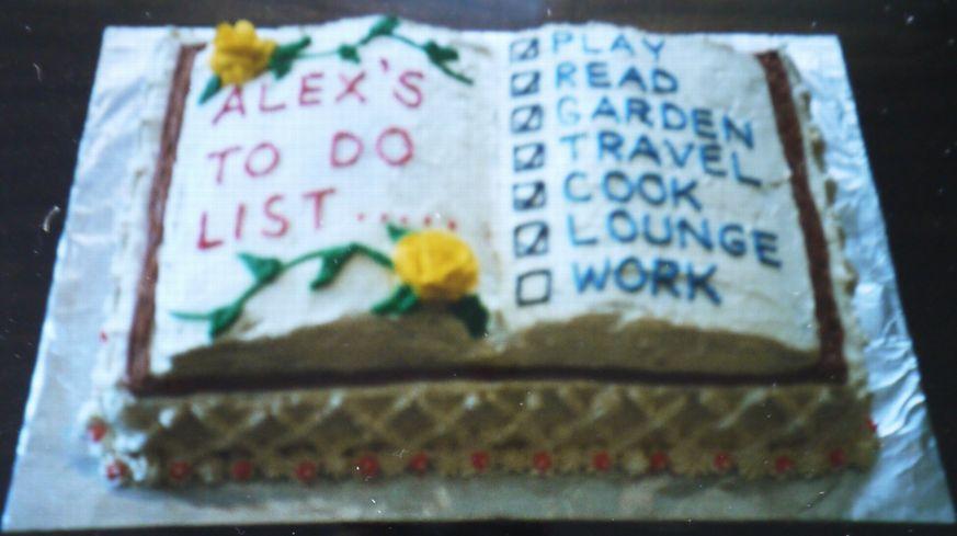 リタイアメントブックケーキ
