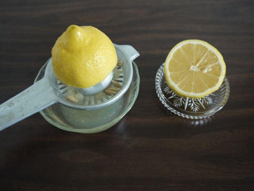 レモンの絞り方