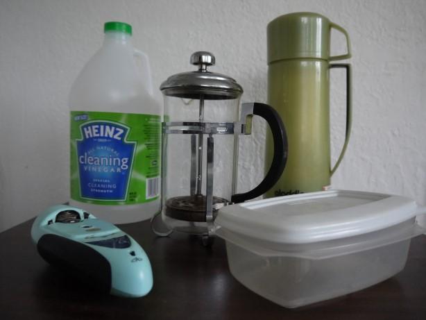 酢で入れ物掃除