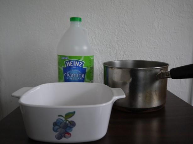 酢で鍋を掃除