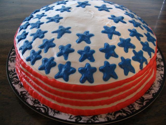 独立記念日のケーキ
