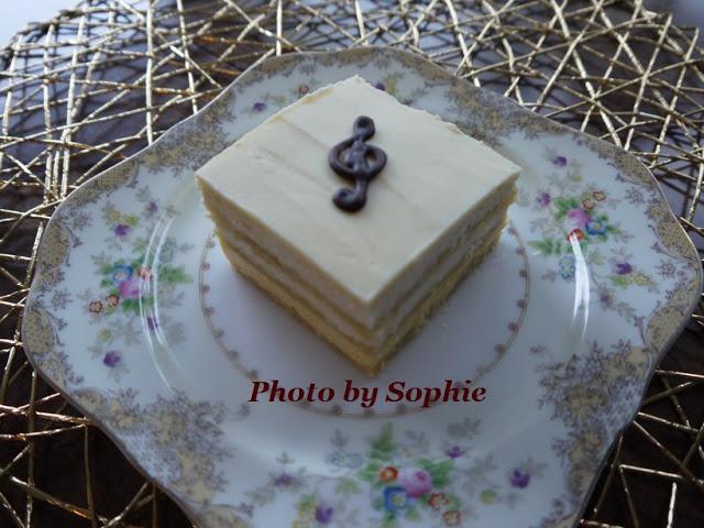 ホワイトチョコレート・オペラケーキ