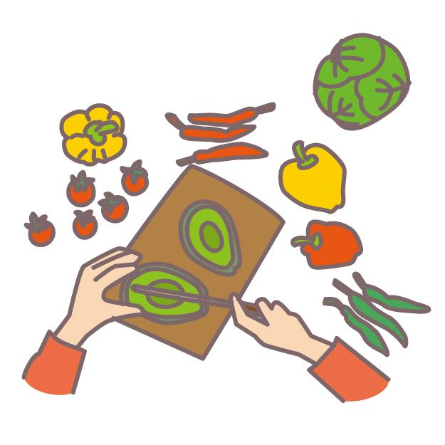 食べ物の切り方