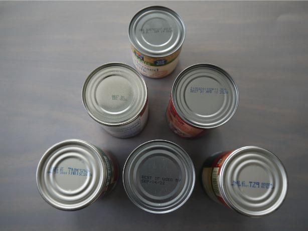 缶詰賞味期限の表示