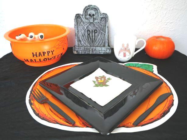 ハロウィンのテーブルコーデ