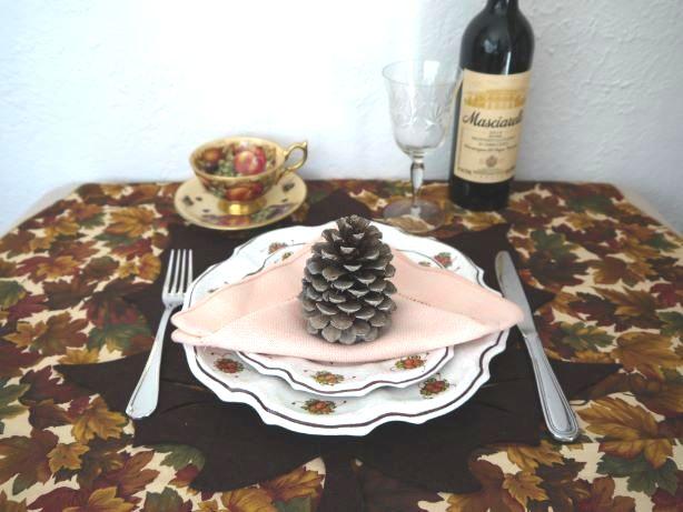 感謝祭のテーブルコーデ
