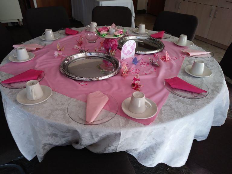 テーブルセッティング(ピンク)