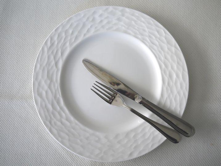 食事後のカトラリーの位置