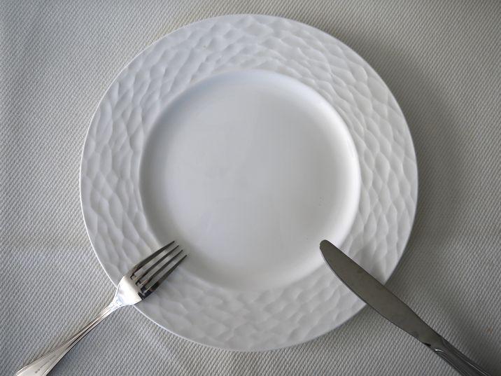 食事中のカトラリーの位置