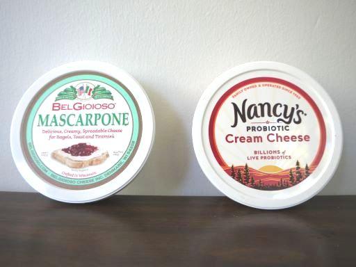 マスカルポーネチーズとクリームチーズ