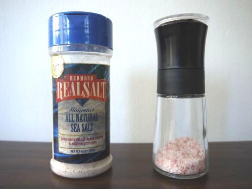 海塩とヒマラヤンピンクソルト