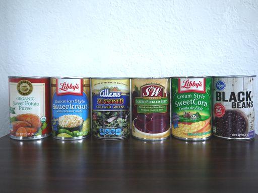 アメリカの缶詰野菜