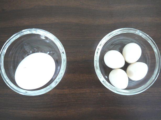 鶏卵と鶉卵