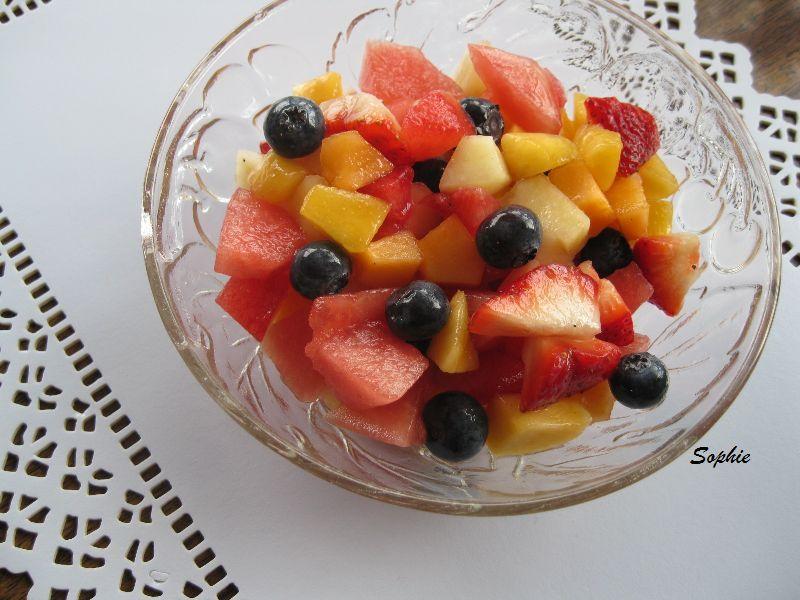 フルーツサラダのバニラシロップ和え