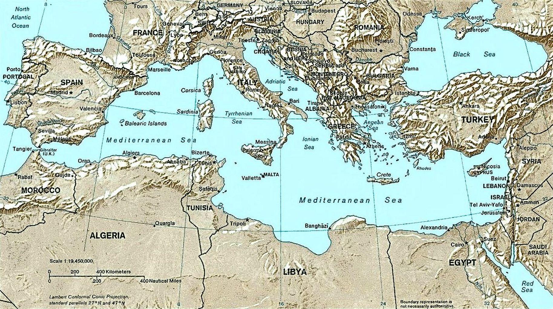 地中海地方の国々