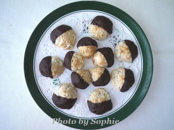チョコレートディップ・ココナッツ・マカルーン