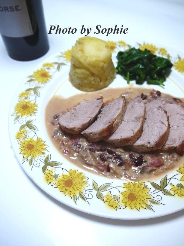 豚ヒレ肉のココナッツ・クランベリーソース