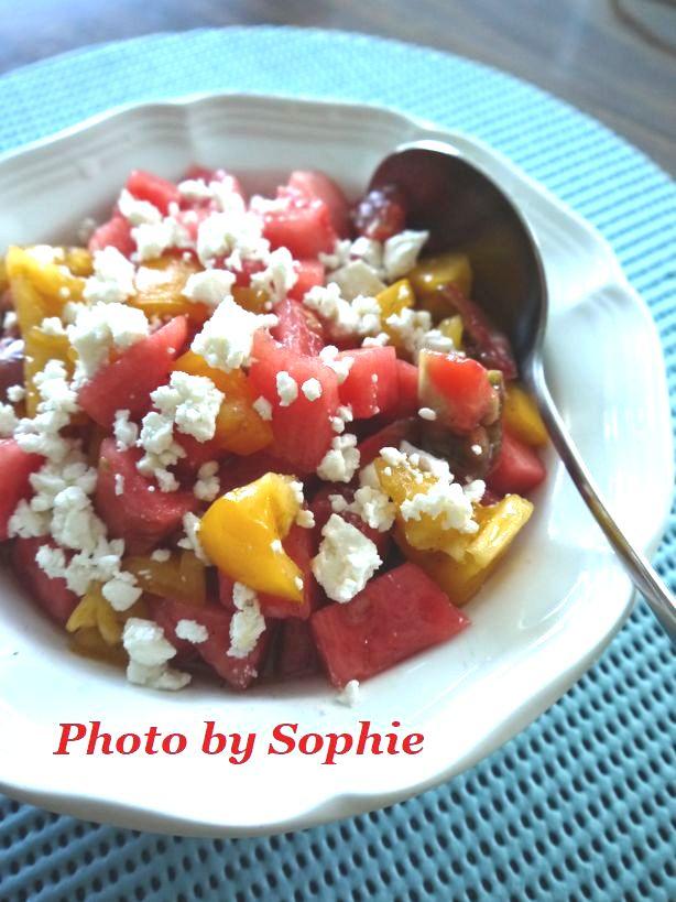 西瓜とトマトのサラダ