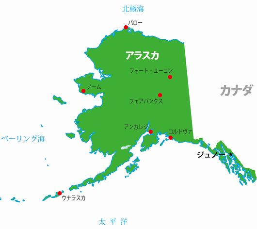 アラスカ地図