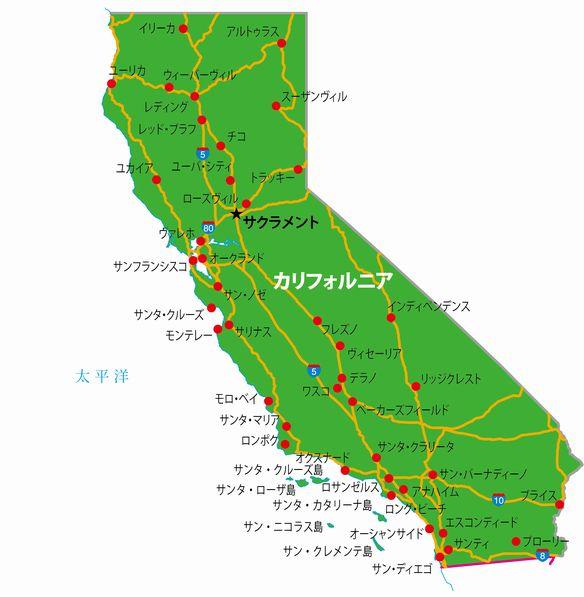 カリフォルニア地図