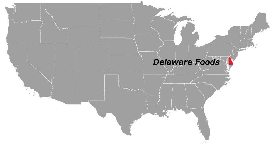 デラウェア州の食べ物