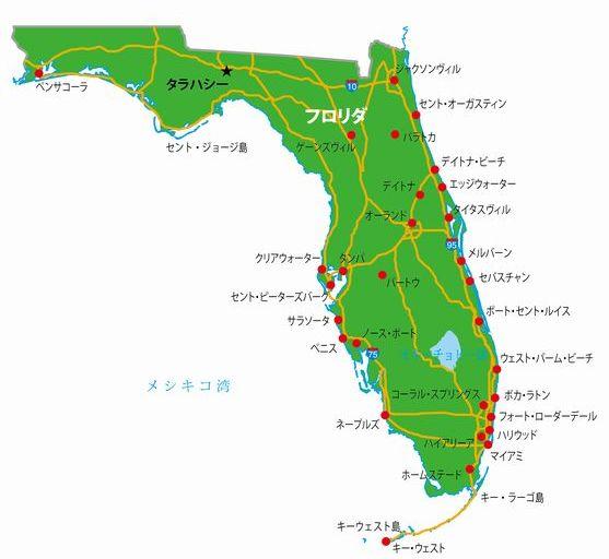 フロリダの地図
