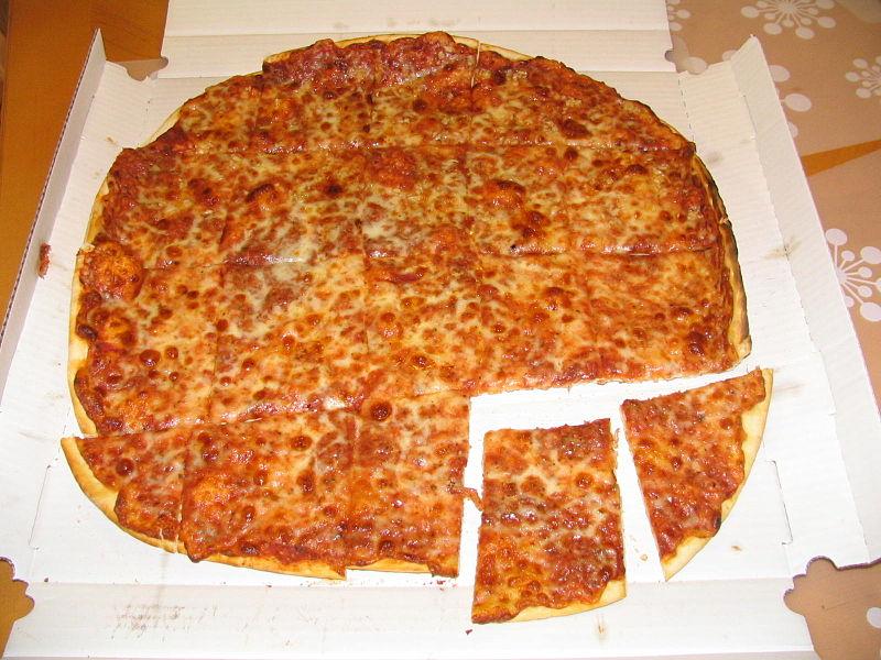 シカゴの薄いピザクラスト