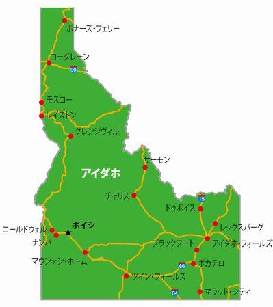 アイダホの地図