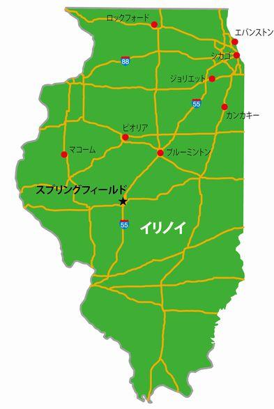 イリノイ州の地図