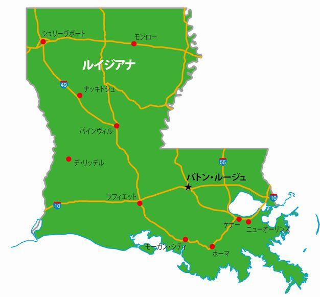 ルイジアナの地図