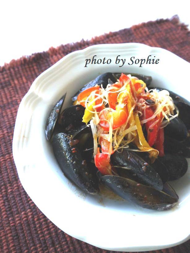 ムール貝の蒸し煮・オリエンタル風