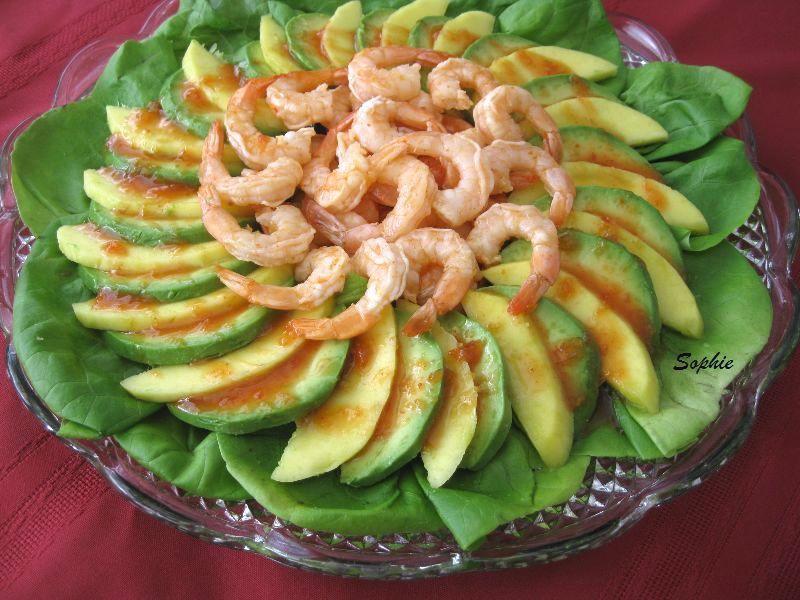 タイの海老アボカドマンゴサラダ